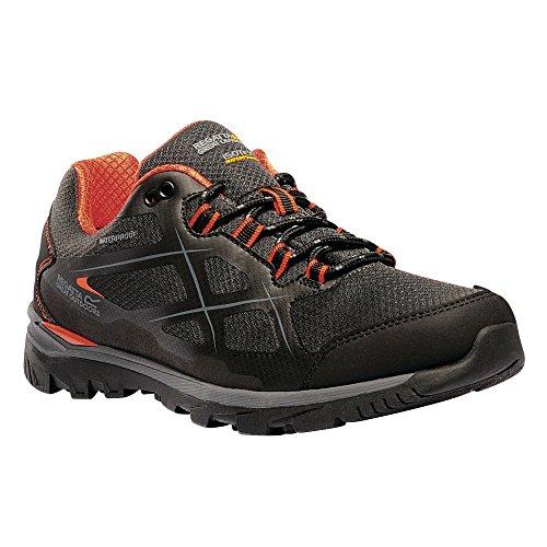 Regatta Mens Kota Low Rise Walking Shoes Black/Granite yFofKt