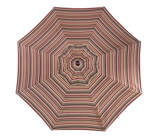 (Furniture Barn USA 9 Foot Tilt and Crank Octagon Sunbrella Umbrella - Dining Height-Brannon Redwood with Black Pole)