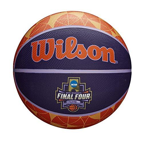 - Wilson Sporting Goods NCAA Women's Final Four Rubber Basketball, Multicolor