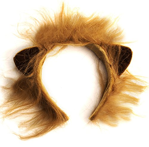 Funny Party Hats Lion Ears and Tail Set - Lion Costume - Ears - Import It  All 1a86c1aadc20