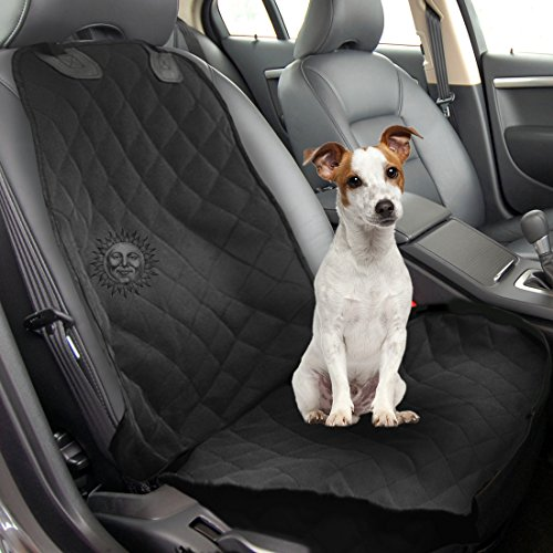 Dog Front Seat Car Cover by SunGrow - Waterproof, Non Slip Back - Vehicle Seat Protection from falling Dog Hair, Soiling, Mud, Sand, Sweat & Kids' Mess - 1-Minute Installation