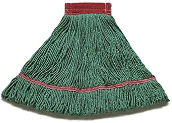 "Wilen A02801, J W Atomic Loop Wet Mop, Small, 5"" Mesh Band, Green (Case of 12)"