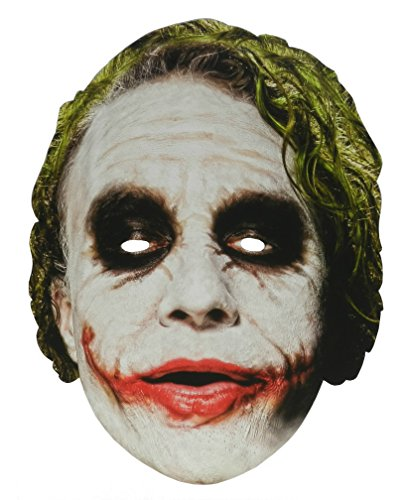 The Joker The Dark Knight Trilogy Paper Cardboard Mask Dark Knight Joker Card
