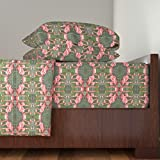 Roostery Flamingo 4pc Sheet Set Flamingo Dance by Ravynscache King Sheet Set made with