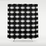 Eyes modern abstract art shower curtain. Creative home decor by C.Cambrea Art