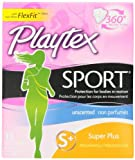 Health & Personal Care : Playtex Sport Tampons with Flex-Fit Technology, Super Plus, Unscented - 18 Count (Pack of 2)