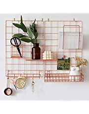 """JOVONE Wall Grid Panel For Photo Display,Decorative Desk Storage Organizer For Office,Study,Memo board, Size 17.6"""" x 11.9"""", Pack Of 2"""