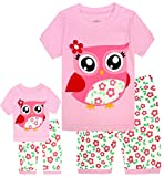 #2: Babyroom Girls Matching Doll&Toddler Owl Short Cotton Snug Fit Pajamas Kids Clothes Sleepwear