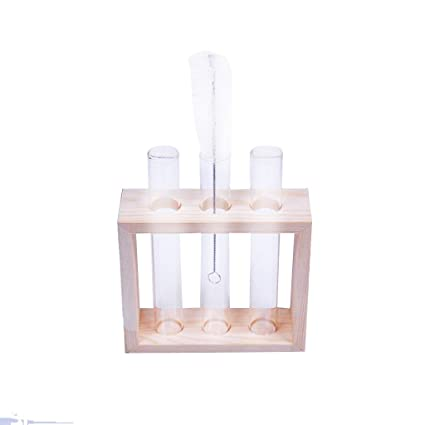 Amazon Magideal Crystal Glass Test Tube Vase In Wooden Stand