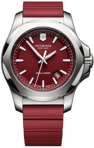 Victorinox Swiss Army Men's 241719.1 I.N.O.X. Watch with Red Dial and Red Rubber Strap -  adult