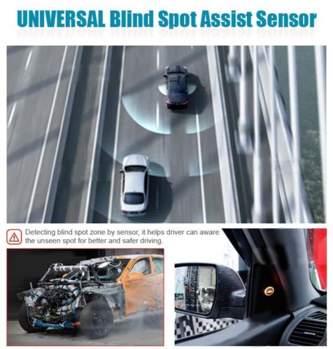 Toyota Sequoia Blind Spot Monitor Safety Warning Sensor Detection Kit; Car Light & Sound Alarm System