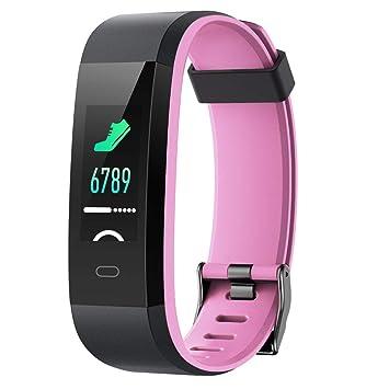 Willful Pulsera Actividad, Pulsera Actividad Inteligente Pantalla Color Reloj con Pulsómetro Impermeable IP68 Podómetro Pulsera Deportiva Reloj para ...