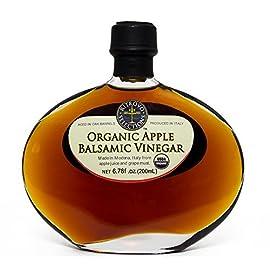 Ritrovo Organic Apple Balsamic Vinegar, 6.78fl.oz. (200ml) 1 Organic Apple Balsamic Vinegar in a Beautiful Glass Gift Decantur Made in Modena, the most renowned balsamic producing region in Italy. USDA Certified Organic & Non GMO
