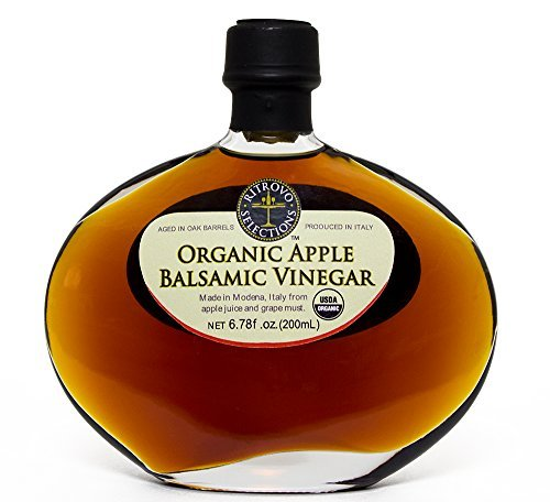 Ritrovo Organic Apple Balsamic Vinegar, 6.78fl.oz. (200ml) 1 Organic Apple Balsamic Vinegar in a Beautiful Glass Gift Decantur Made in Modena, the most renowned balsamic producing region in Italy. USDA Certified Organic & Non GMO