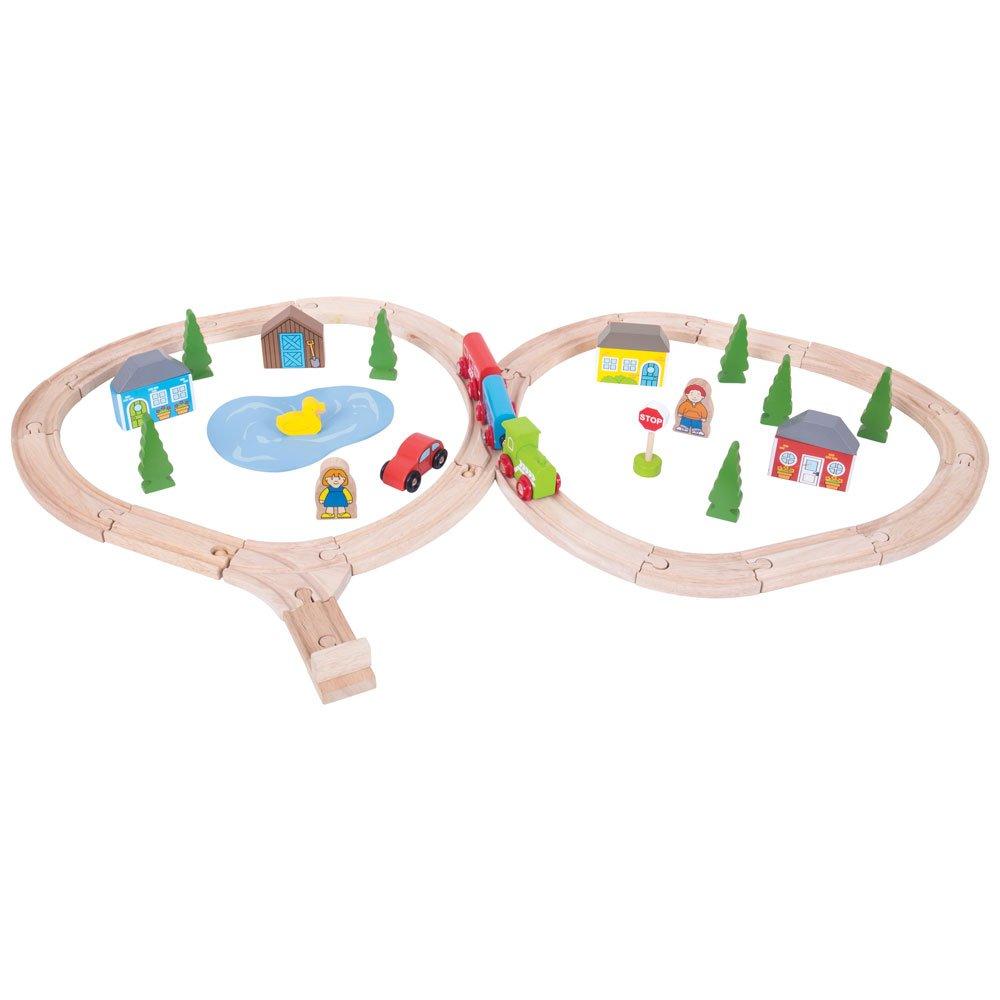 Bigjigs Rail  BJT068 Kinder Überlandbahn Mehrfarbig, Set, Mehrfarbig, Überlandbahn One Größe bd7634