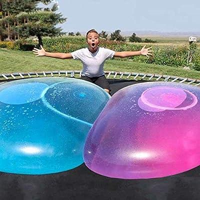 Vercico Wubble Bubble Ball Giant Water Bubble Balloon Inflatable Toy Soft Rubber Ball Oversize Beach Garden Party Outdoor (Blue): Toys & Games