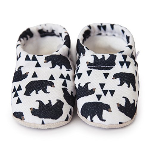 Clamfeet Organic Baby Shoes Organic Vegan Baby Shoes (1 | 0-6 Month, Bears)