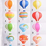 "XY-GESC 12"" Rainbow Hot Air Balloon Paper Lantern Birthday Party Wedding Decoration"