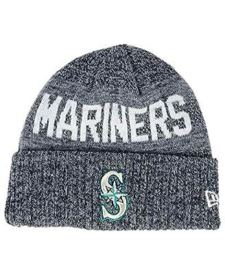 New Era Seattle Mariners Crisp Colored Knit Cuffed Hat Logo Sport Knit Hat