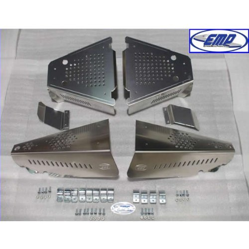 Extreme Metal Polaris Ranger 400/500/EV CV Boot Guards. 10727AL (Mounting 0.125')