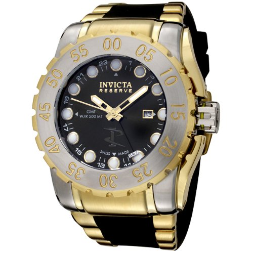 Amazon.com: Invicta Mens 6651 Reserve Leviathan Collection Black Polyurethane and 18k Gold-Plated Watch: Invicta: Watches