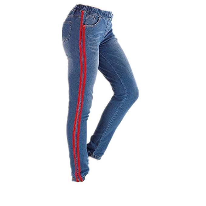 NPRADLA Vaqueros Jeans Tendencia Mujeres Otoño Elastic Plus ...