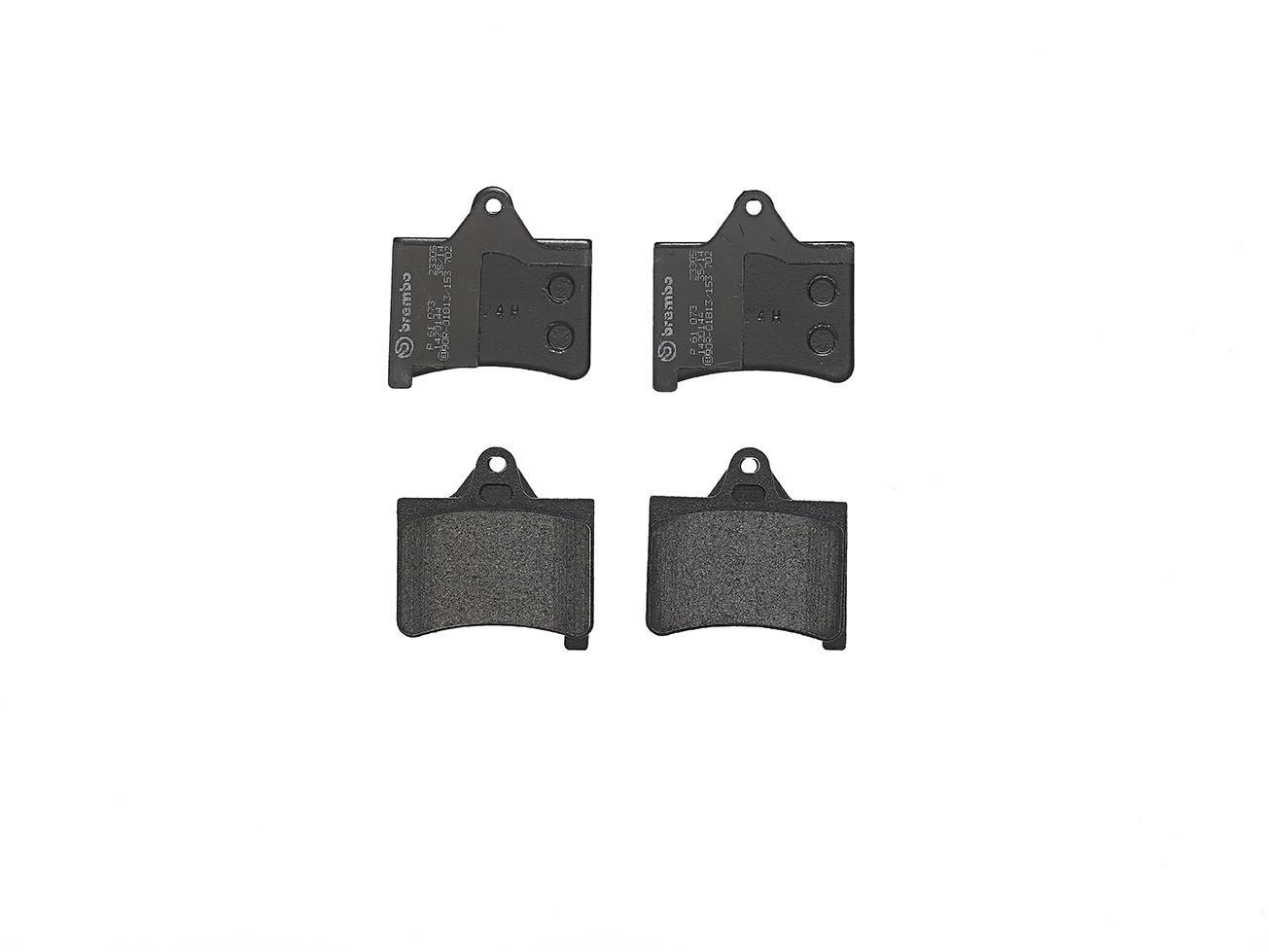 4-teilig Brembo P 61 073 Bremsbelagsatz Scheibenbremse