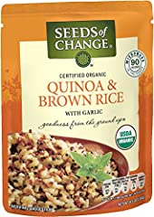Enjoy a perfect blend of the fluffy and nutritious quinoa super grain and organic brown rice. A quick stir in the skillet or microwave and you'll be good to go with some nourishing whole-grain goodness. This microwavable quinoa and brown rice...