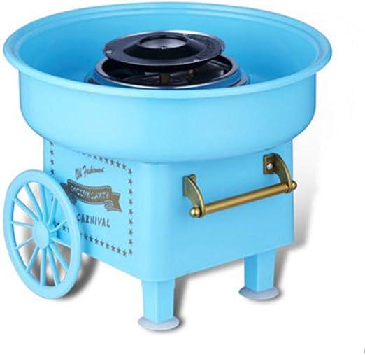Retro Eléctrico máquina de algodón de azúcar, Mini fabricante de hilo de caramelo 450W para niño juguetes,Blue: Amazon.es: Hogar