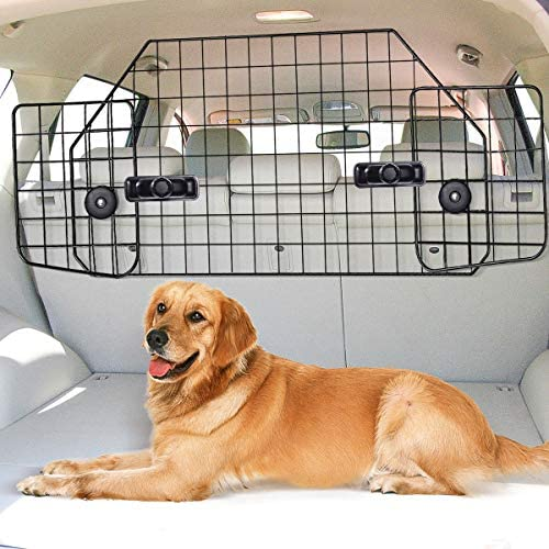 TOOCA Dog Barrier Metal Vehicle Separation Barrier Adjustable for SUV Truck Jeep, Iron with Powder Coating Paint Process