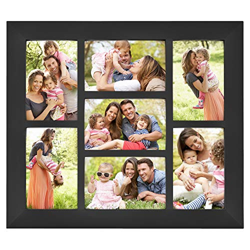 MCS 14x16 Inch Collage Picture Frame with 7-4x6 Inch Openings, Black ()