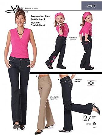 jalie Damen und Mädchen Schnittmuster 2908 Stretch Jeans: Amazon.de ...