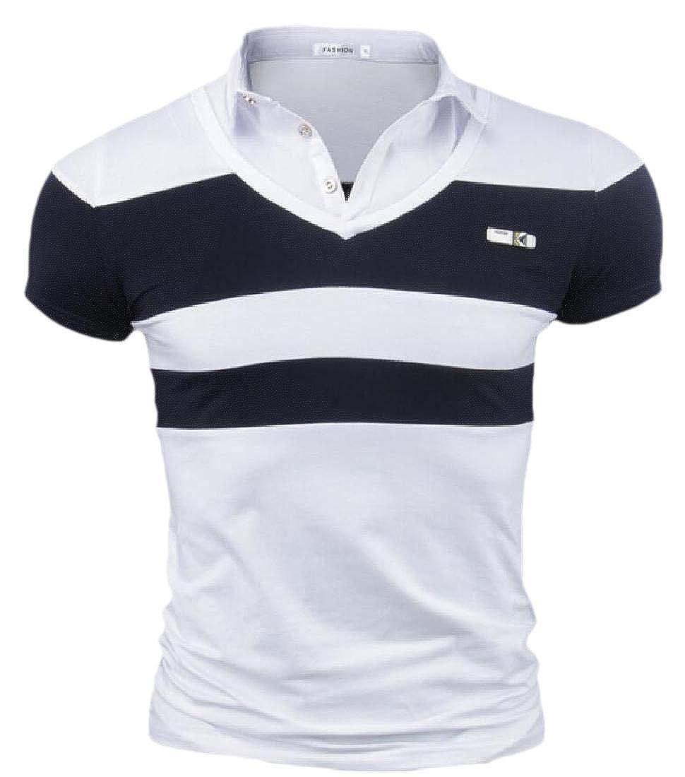 Camisa Tipo Polo de Golf de Manga Corta de algodón para Hombre ...