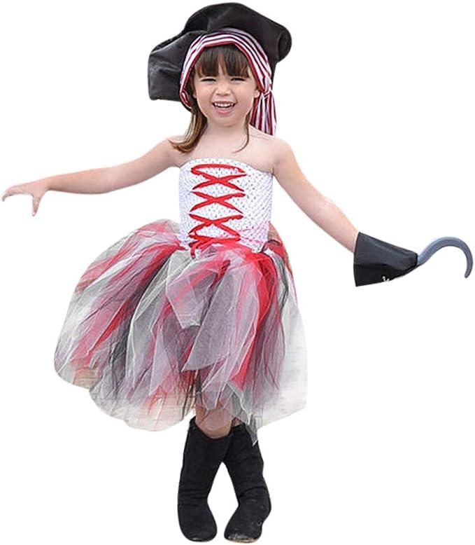 MAYOGO Halloween Bebe Niña Vestido Princesa sin Mangas Tul Tutú ...