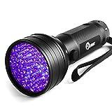 Opoway 51 Ultraviolet LED Flashlight for Scorpion Pet Stain Detection, Black
