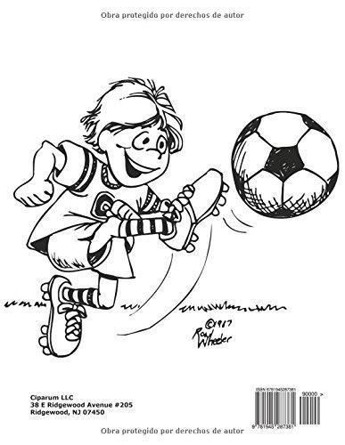 Libro para Colorear de Futbol: Amazon.es: Coloring Pages for Kids ...