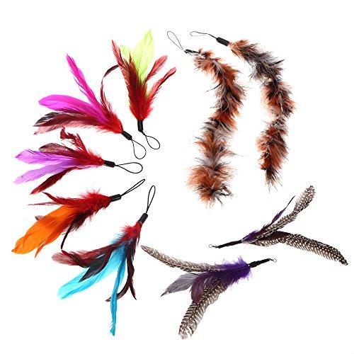 Anself-9Pcs-Teaser-Feather-Luxe-Color-Longue-pour-Chat