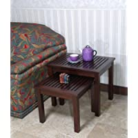 Office Accents Mahogany Valencia Nesting Table Set of 2 Pcs