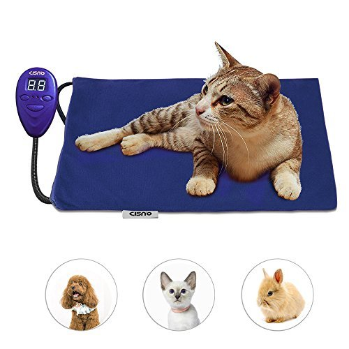 Pet Heating Pad Bed Mat for Dog Cat Electric Heating Mat Waterproof Adjustable Warming With Chew Resisitant Cord & Removable Covers
