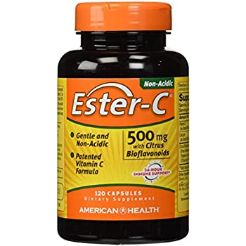 American Health Ester-C with Citrus Bioflavonoids - 500 mg - 120 Capsules