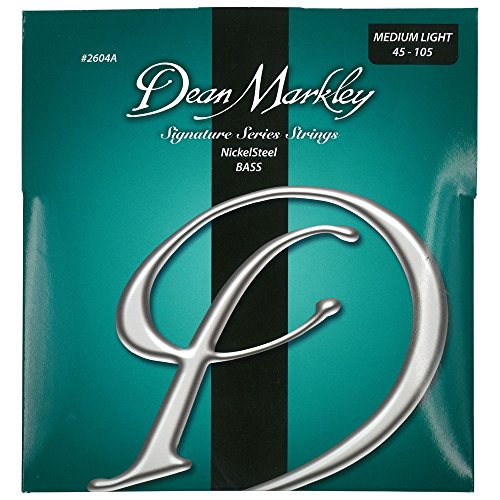 Dean Markley NickelSteel Signature Bass Guitar Strings, 45-105, 2604A, Medium Light