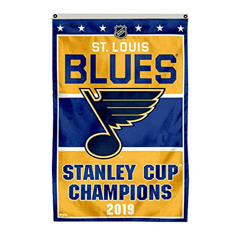 Thinkfly St.Louis Blues 2019 Stanley Cup Champions Flag Banner Man Cave ()