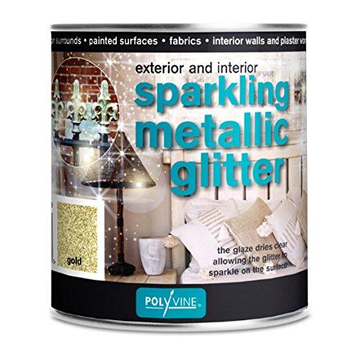 Polyvine Sparkling Metallic Glitter 500ml (Gold) (Gold Painting Glitter)