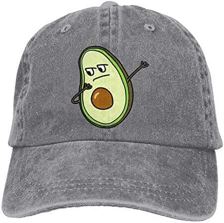 fb2c7e137ce kigirap Unisex Washed Dabbing Avocado Fashion Denim Baseball Cap Adjustable  Rapper Hat