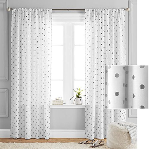 - Better Homes and Gardens Polka Dots Curtain Panel, 52