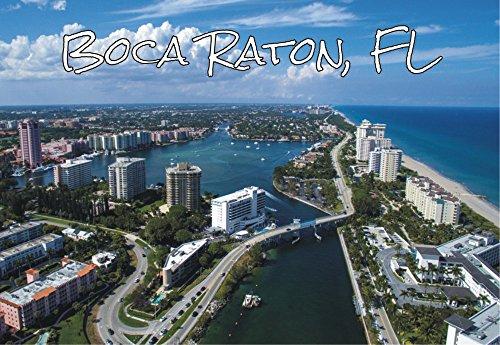 Boca Raton, Florida, Beach, City Skyline, FL, Souvenir, Travel, Locker, Magnet 2 x 3 Fridge Magnet (Stores Boca Raton)