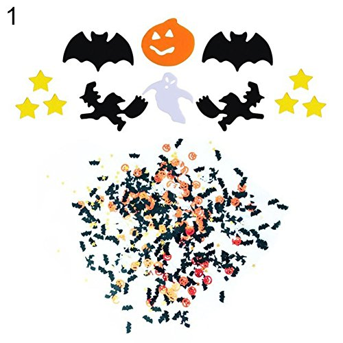 Brave669 15g/Bag Halloween Party Table Confetti Pumpkin Bat Ghost Spider Sprinkle Decor 1# ()