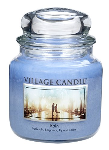 Village Candle Rain 16 oz Glass Jar Scented Candle, Medium