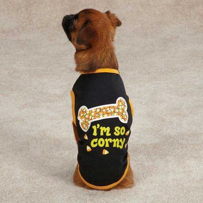 Casual Canine I'm So Corny Tee for Pets, Large, (Corny Dog Costume)