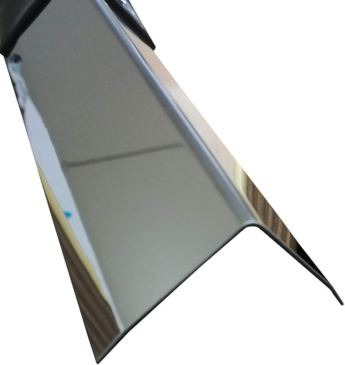 Kantenschutz Wand Winkelprofil Edelstahl 3-fach gekantet Kantenschutzprofil 3fach Winkelblech 2 Meter Edelstahl Winkel hochglanz poliert,0,8mm stark